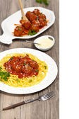 Spaghetti with Meatballs — Stock Photo