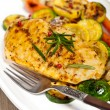 Grilled chicken breast with vegetables — Stock Photo #37615917