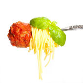 Meatball with spaghetti — Stock Photo