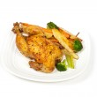 Roasted chicken and vegetables — Stock Photo #38814919