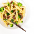 Pasta with sausage and broccoli — Stock Photo #38819249