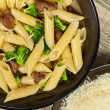 Pasta with sausage and broccoli — Stock Photo #38819265