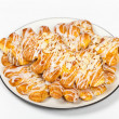 Stock Photo: Almond Bear Claws Pastry