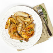 Roasted chicken thighs with Rosemary — Stock Photo