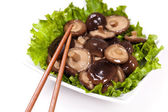 Whole Shitake mushrooms — Stock Photo