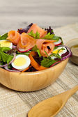 Smoked Salmon Salad — Stock Photo