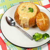 Broccoli and cheese soup — Stok fotoğraf