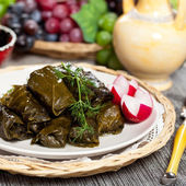 Stuffed Grape Leaves — 图库照片