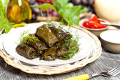 Stuffed Grape Leaves — Zdjęcie stockowe