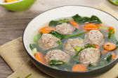Chicken meatball soup — 图库照片