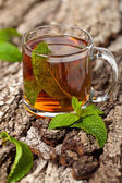 Cup Tea with Mint — Stock Photo