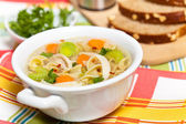 Chicken Noodle Soup — Stock Photo