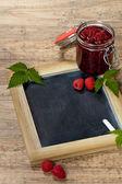 Raspberries Jam — Stock Photo