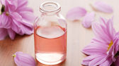 Essential Oil with Flowers — Stock Photo