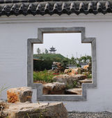 Chinese gardens — Stock Photo
