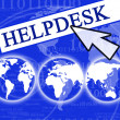 Virtual helpdesk — Stock Photo