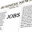 Royalty-Free Stock Photo: Jobs in the news paper