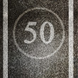 Speed limit - Stock Photo