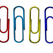 Multi colored paperclips — Stock Photo