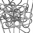Paperclips collection — Stock Photo