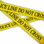 Police line — Stock Photo