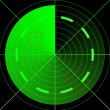 Green radar — Stock Photo