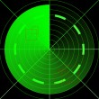 Green radar - Stock Photo