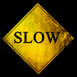 Stock Photo: Slow sign