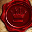 Royal wax seal — Stock Photo