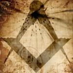 Masonic square and compass — Stock Photo