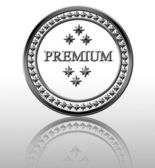 Silver premium stamp — Stock Photo