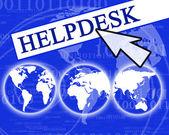 Virtual helpdesk — Stock Photo