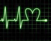 Herzfrequenz — Stockfoto