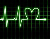 Heart rate — Stock Photo