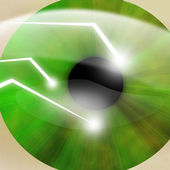 Eye scanned by security software — Stock Photo