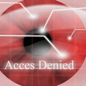 Access denied after eye scan — Stock Photo