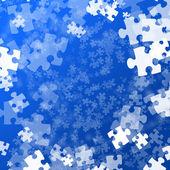 Random jigsaw pieces — Stock Photo