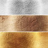 アルミニウム、黄銅および銅のプレート — ストック写真