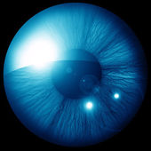 Iris humano — Foto de Stock