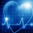 Heart beat on a monitor — Stock Photo #30349167