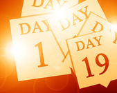 The passing of days — Stock Photo