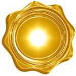 Gold wax seal — Stock Photo