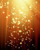 červený závěs s spotlight — Stock fotografie