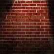 Spotlight on wall — Stock Photo