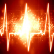 Stock Photo: Heartbeat on display