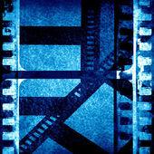 Blue filmstrip — Stock Photo
