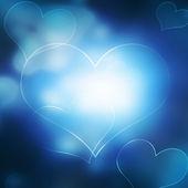 Blå hjärta — Stockfoto