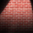 Spotlight on wall — Foto Stock