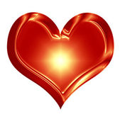 Wax heart — Stock Photo
