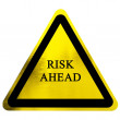 Risk ahead sign — Stock Photo #32788403